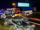 Bei einer schweren Unfallserie auf der A2 starben zwei Menschen. (Foto)