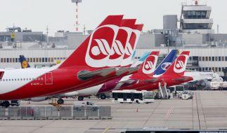 Air Berlin muss auch am zweiten Tag des Piloten-Aufstandes zahlreiche Flüge streichen. (Foto)