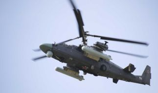 """Bei dem umstrittenen russischen Großmanöver""""Sapad"""" soll ein Militär-Helikopter auf Zuschauer geschossen haben. (Foto)"""