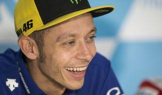 MotoGP-Fahrer Valentino Rossi meldet sich nur 22 Tage nach seinem Beinbruch in der Motorrad-WM zurück. (Foto)