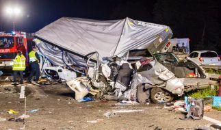 Geisterfahrerunfall am Autobahndreieck Rüsselsheim mit drei Toten. (Foto)
