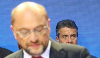 """In der sogenannten """"Elefantenrunde"""" nach der Bundestagswahl 2017 attackierte Martin Schulz Angela Merkel scharf. (Foto)"""