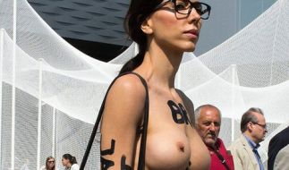 Milo Moiré fällt immer wieder mit ihren Nackt-Auftritten auf. (Foto)