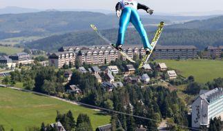 Die Fichtelbergschanze in Oberwiesenthal. (Foto)