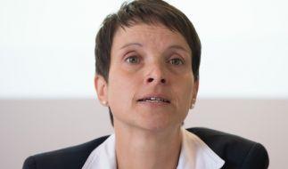 Die Staatsanwaltschaft Dresden hat Anklage gegen Frauke Petry erhoben. (Foto)