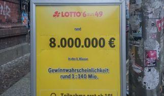 Lotto am Samstag, Informationen zu den aktuellen Lottozahlen, Gewinnwahrscheinlichkeit und Spiel 77, Super 6. (Foto)