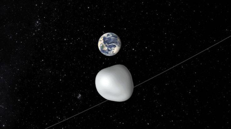 Am Donnerstag fliegt ein Asteroid ganz knapp an der Erde vorbei.