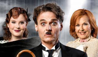 GZSZ-Star Wolfgang Bahro (m.) schlüpft in die Rolle von Charlie Chaplin. (Foto)