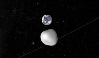 Am 12.10.2017 fliegt der Asteroid 2012 TC4 an der Erde vorbei. (Foto)