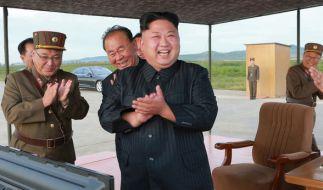 Kim Jong-un plant offenbar weiteren Raketentest. (Foto)
