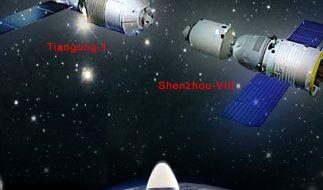 """Das Modul """"Tiangong-1"""", das übersetzt """"Himmelspalast"""" heißt. (Foto)"""