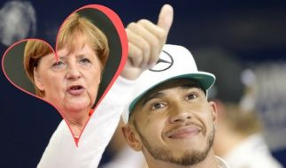 Lewis Hamilton liebt Angela Merkel. (Foto)