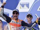 Marc Marquez (vorn) könnte in Malaysia seinen vierten MotoGP-Titel gewinnen. Valentino Rossi ist nach einer Verletzungspause chancenlos. (Foto)