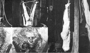 Sein zweites Opfer hing Ed Gain Kopfüber in seiner Scheune auf. (Foto)
