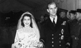 Prinzessin Elizabeth und Prinz Philip gaben sich am 20. November 1947 das Ja-Wort. (Foto)