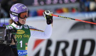 Viktoria Rebensburg ist mit einem Sieg im Riesenslalom in den Olympia-Winter gestartet. (Foto)