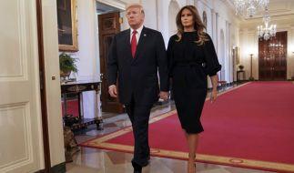 Bei Donald und Melania Trump gab es immer wieder Trennungsgerüchte. (Foto)