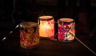 Laternen gehören zum Martinstag genauso dazu wie die traditionelle Gans. (Foto)
