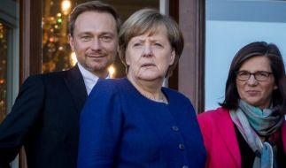 Finstere Mienen bei Angela Merkel und Co. Die Gunst der Wähler sinkt. (Foto)