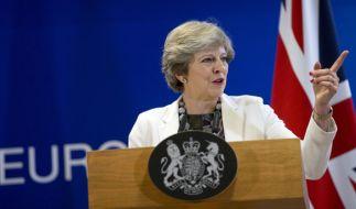Im Zuge der Brexit-Verhandlungen wird es für Theresa May langsam eng. (Foto)
