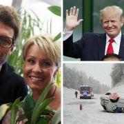 Unfallchaos durch Wintereinbruch // Öffentlicher Liebesbeweis für Trump // Dschungelcamp-Kandidaten (Foto)