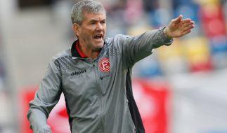 Coach Friedhelm Funkel musste sich mit Fortuna Düsseldorf am 14. Spieltag gegen Ingolstadt geschlagen geben. (Foto)