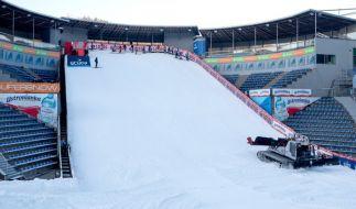 Die Vorbereitungen zur Skisprung-Saisoneröffnung im polnischen Wisla sind in vollem Gange. (Foto)