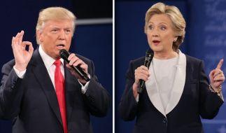 Donald Trump und Hillary Clinton haben auch nach dem Wahlkampf ihr Kriegsbeil noch nicht vergraben. (Foto)