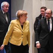 Merkel, Seehofer und Schulz zu GroKo-Sondierung nach Bellevue beordert (Foto)