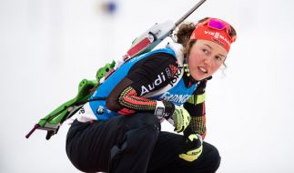 Laura Dahlmeier kann aufgrund einer Erkältung in Östersund nicht an den Start gehen. (Foto)