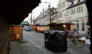 Betonpoller und Sandsäcke sollen Terroranschläge auf Weihnachtsmärkten abwehren. (Foto)