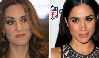 Meghan Markle (re.) und Kate Middleton werden 2018 ganz offiziell Schwägerinnen. (Foto)