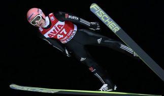 Die deutschen Skispringer starten an diesem Wochenende im russischen Nischni Tagil. (Foto)