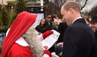 Prinz William hat Georges Wunschzettel beim Weihnachtsmann abgegeben. (Foto)