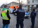 Die Polizei sperrte den Bereich weiträumig ab. (Foto)