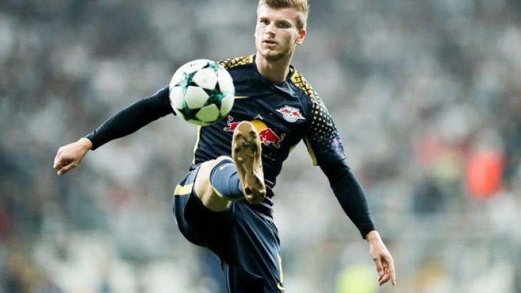 Leipzigs Spieler Timo Werner am Ball.