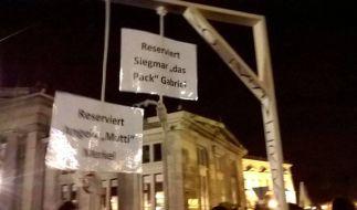"""Der """"Merkel-Galgen"""" ist nicht strafbar. (Foto)"""