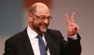 Schulz wurde vom Parteitag mit 81,9 Prozent wiedergewählt. (Foto)