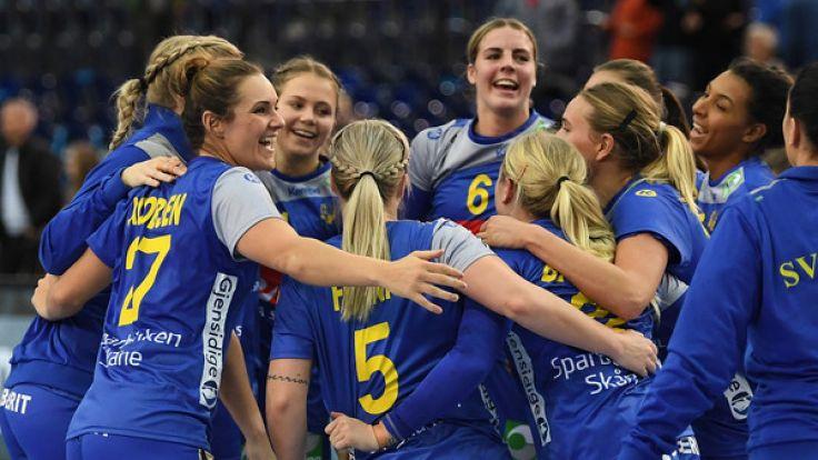 Die Mannschaft der schwedischen Handball-Nationalmannschaft trifft im Viertelfinale auf Dänemark.