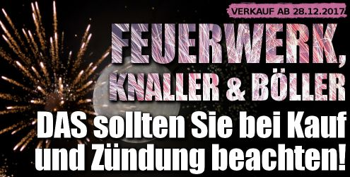 Feuerwerks-Verkauf Silvester 2017