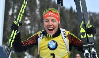 Laura Dahlmeier ist in Annecy bestens in das Wintersport-Wochenende gestartet. (Foto)