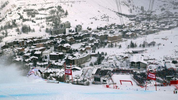 In Val d'Isere haben die alpinen Skirennfahrerinnen mit den Wetter-Bedingungen zu kämpfen. (Foto)