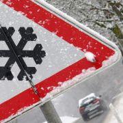 Schnee-Klatsche und Unwetteram dritten Adventswochenende (Foto)