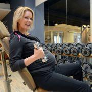 Fitness während der Schwangerschaft: Für Monica Ivancan kein Problem.