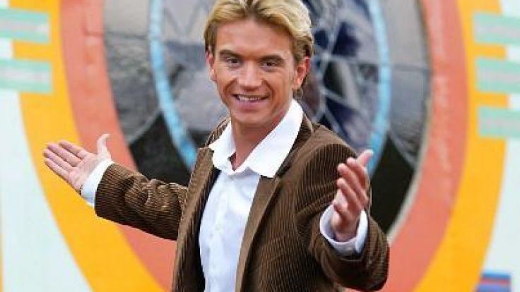 Florian Silbereisen 2003 nach einer Pressekonferenz in Berlin. (Foto)