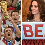 Von der Niederkunft Kate Middletons mit Zwillingen über den Weltmeistertitel für Deutschland bis hin zur frühzeitigen Eröffnung des Flughafens BER - so manche Schlagzeile wäre uns 2018 höchst willkommen. (Foto)