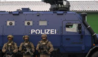 """Die Panzerwagen vom Typ """"Survivor R"""" sollen bei Amok- oder Terrorlagen zum Einsatz kommen. (Foto)"""