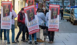 """Die Vereinigung hinter der Koran-Verteilaktion """"Lies"""" bleibt rechtskräftig verboten. (Foto)"""