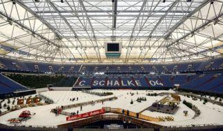Die Veltins-Arena in Gelsenkirchen ist am 28.12.2017 wieder Treffpunkt der Biathlon-Stars. (Foto)