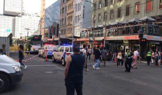 In Australien ist ein Mann mit seinem Fahrzeug in eine Menschenmenge gerast. Es gab mehrere Verletzte. (Foto)